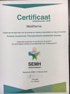 aanmeten van steunkousen bij een gecertificeerd bedrijf, MediDerma nu 13 jaar gecertificeerd